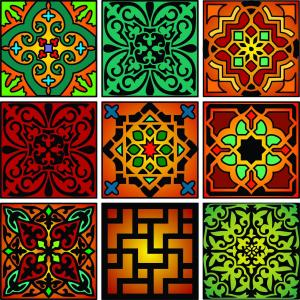 Just some of the Moroccan designs for tiles