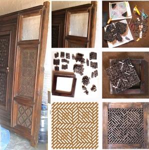 Indian door with broken panel